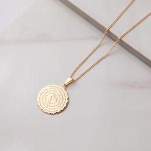 Mary Prayer Necklace | 18k Gold Filled